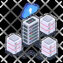 Cloud Servers Cloud Data Uploading Cloud Databases Icon