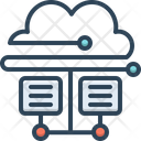 Cloud Database Cloud Hosting Icon