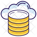 Cloud Database Cloud Data Cloud Storage Icon