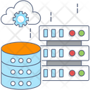 Cloud Database Data Storage Data Center Icon