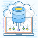 Cloud Dataserver Cloud Hosting Cloud Computing Icon