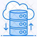 Cloud Database Cloud Storage Cloud Computing Icon