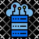 Cloud Database Internet Digital Icon