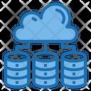 Cloud Database Big Data Blockchain Icon