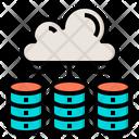 Cloud Database Big Data Online Icon
