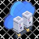 Cloud Data Cloud Database Cloud Data Servers Icon
