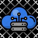 Cloud Database Server Database Icon