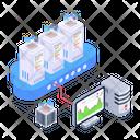 Cloud Data Hosting Data Hosting Cloud Database Hosting Icon