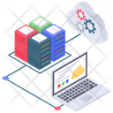Cloud Database Database Management Cloud Computing Icon