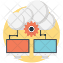 Cloud database management Icon
