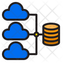 Cloud Database Network Icon