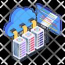 Cloud Hosting Cloud Databases Cloud Computing Icon