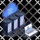 Database Servers Data Centers Cloud Databases Icon