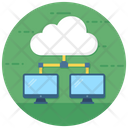 Cloud Dataserver Cloud Hosting Cloud Computing Server Icon