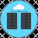 Cloud Data Server Cloud Database Cloud Hosting Icon