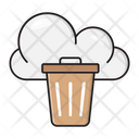 Delete Trash Cloud Icon