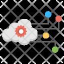 Cloud Network Development Icon