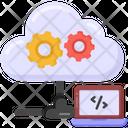 Cloud Coding Cloud Configurations Cloud Computing Icon