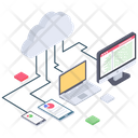 Cloud Devices Cloud Computing Cloud Technology Icon