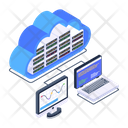 Cloud Server Cloud Storage Cloud Devices Icon