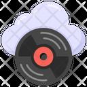 Compact Disc Cloud Disc External Storage Icon