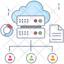 Cloud Distribution Cloud Sharing Dataserver Network Icon