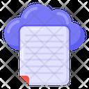 Cloud File Cloud Document Cloud Paper Icon