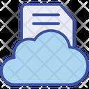 Cloud Data Document Icon