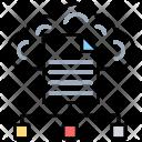 Cloud File Computing Icon