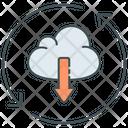 Continuous Deployment Download Cloud Icon