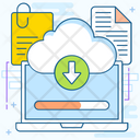 Cloud Download Data Download Online Downloading Icon