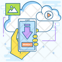 Cloud Download Cloud Computing Cloud Storage Icon