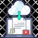 Cloud Download Cloud Services Cloud Data Icon