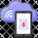 Cloud Data Cloud Download Cloud Mobile Icon