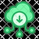 Download To Cloud Online Storage Online Data Icon