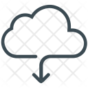 Cloud Download Sharing Icon
