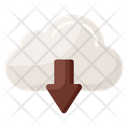 Cloud Downloading Cloud Storage Data Downloading Icon