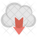 Cloud Storage Downloading Icon