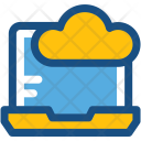 Cloud Connectivity Laptop Icon