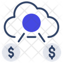 Cloud Earning Cloud Funding Cloud Profit Icon