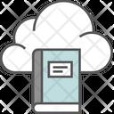 Cloud Education Ebook Education Technology Icon