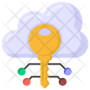Cloud Key Cloud Encryption Digital Key Icon