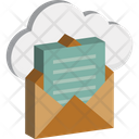 Cloud Envelope Cloud Mail Open Email Icon