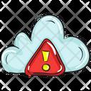 Cloud Error Cloud Hazard Cloud Data Icon