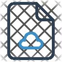 Cloud File Sheet Icon
