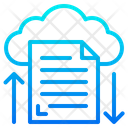 Cloud File Document Icon