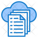 Cloud File Data Icon