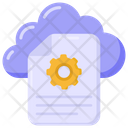 Cloud File Settings File Settings Document Management Icon