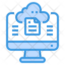 Cloud File Storage Icon