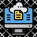Cloud File Storage Icon